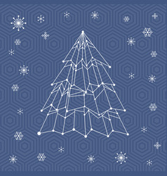 It web christmas tree vector