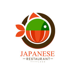 Japanese restaurant logo design authentic vector