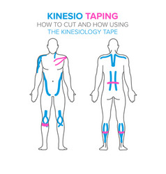 Kinesio taping how using and how to cut the vector
