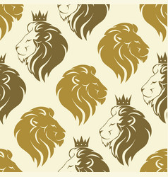 Lion head seamless pattern vector