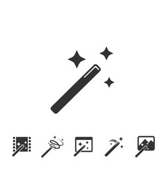magic wands icons set vector image