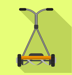 Manual grass cutter icon flat style vector