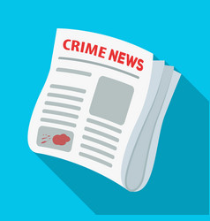 Newspaper crime newscrime article in the press vector