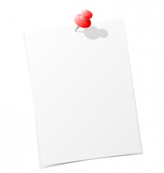 note paper with pin vector image