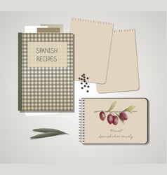 notebook olives hand drawn-03 vector image