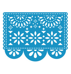 Papel picado floral design with flowers vector