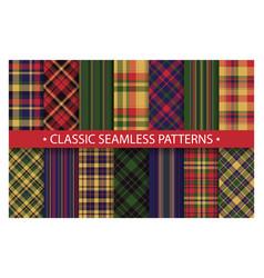 plaid pattern seamless ornate set classic vector image