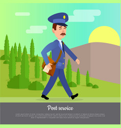 Post service web banner world delivery picture vector