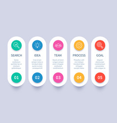 process steps infographic chart business strategy vector image