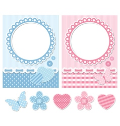 Retro scrapbook set vector