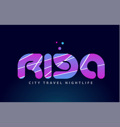 Riga european capital word text typography design vector
