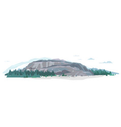 Rocks for mountaineering flat vector
