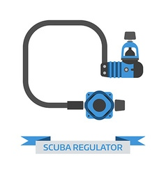 Scuba diving regulator icon vector