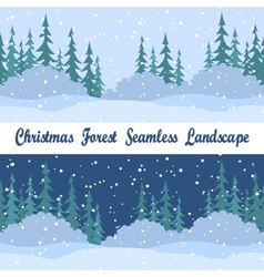 Seamless Landscapes Christmas Trees vector image