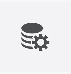 Server settings icon vector