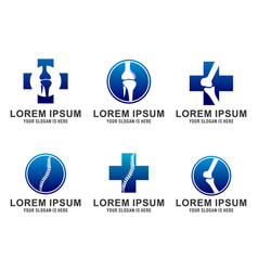 set of orthopedic logo template design emb vector image