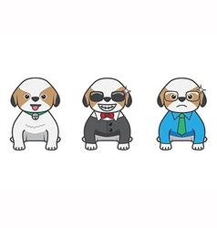 Shih tzu cartoon vector