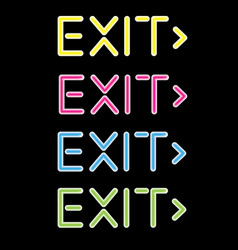 showing a neon exit sign vector image