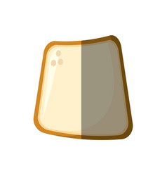 Slice bread bakery shadow vector
