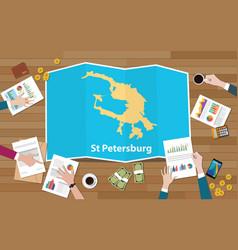 St saint petersburg russia city region economy vector