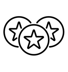 star emblem icon outline style vector image