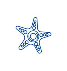 starfish line icon concept starfish flat vector image