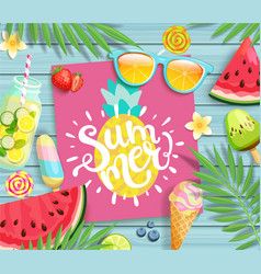 summer 2019 pink card or banner vector image