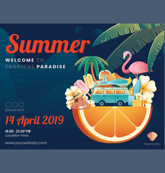 summer element graphic content layout vector image