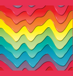 Three-dimensional colored drips of sweet cream vector