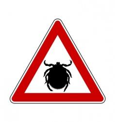 tick warning sign vector image