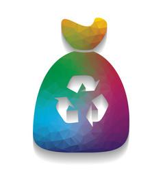trash bag icon colorful icon with bright vector image