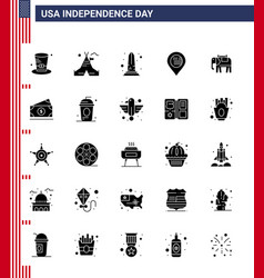 Usa happy independence daypictogram set 25 vector