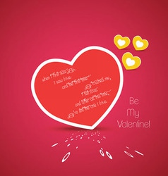 Valentine greetings with heart vector