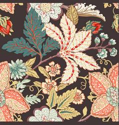 vintage flower pattern vector image