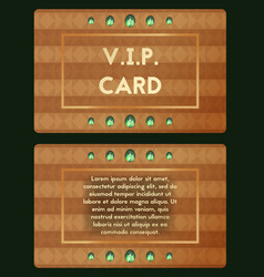 Visiting card with emerald luxury cutaway vector