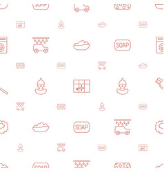 Wash icons pattern seamless white background vector