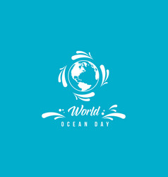 World ocean day background simple style vector