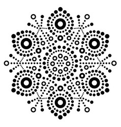 christmas black snowflake dot art design vector image vector image