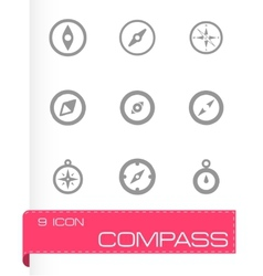 compass icon set vector image