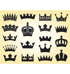 crown collection vector image