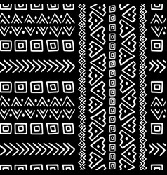 hand drawn ethnic style seamless pattern vector image