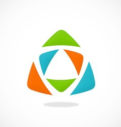 triangle color abstract logo vector image