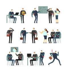working people cartoon characters vector image vector image