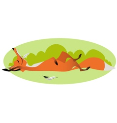 Cute sly full fox vector image vector image