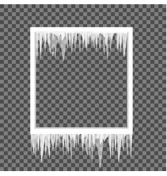 icicles on a square frame vector image vector image