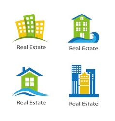 set of logos of real estate vector image vector image