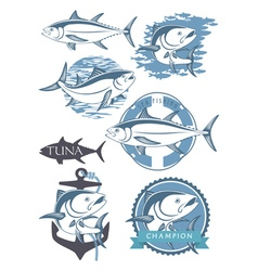 topic of tuna vector image vector image