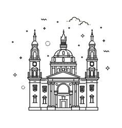 budapest basilica hungary vector image vector image
