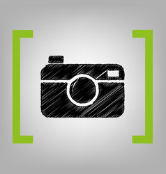 digital photo camera sign black scribble vector image vector image