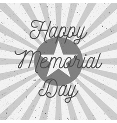 Happy Memorial Day Text on USA Flag vector image